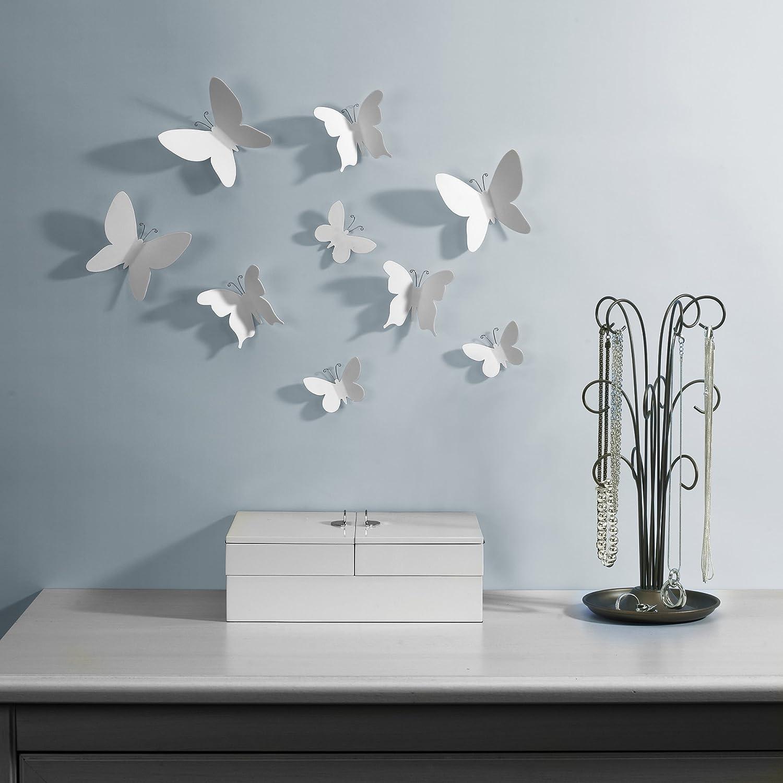 Umbra, farfalle decorative da parete: amazon.it: casa e cucina