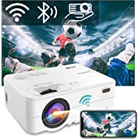 "Beamer WiFi Bluetooth, Artlii Enjoy2 Mini Beamer 1080p Full HD Ondersteund, Projector 6000 Lumen Max 300"" Scherm, Mini…"