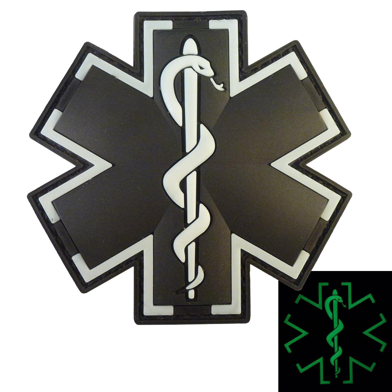 Sanitäter symbol  Glow Dark ACU Black EMS EMT Medic Sanitäter Paramedic Star of Life ...