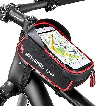 Selighting Bolsa Móvil Bicicleta Bolsa Manillar de Bici Montaña BTR Carretera Impermeable Bolsa Cuadro Bicicleta para Teléfono Móvil dentro de 6,0 pulgadas con Pantalla Táctil: Amazon.es: Deportes y aire libre
