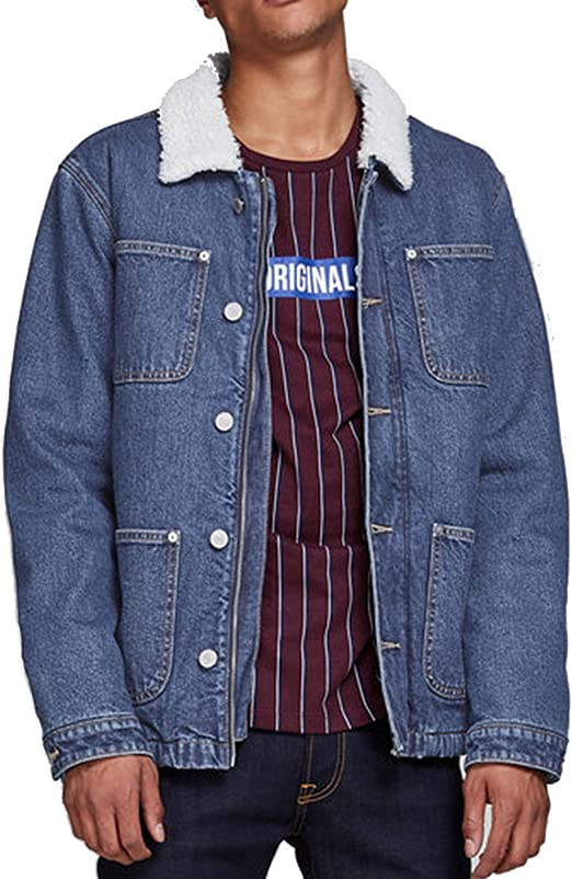 Jack /& Jones Mens /'JCOBOOM/' Lightweight Hooded Puffer Jacket