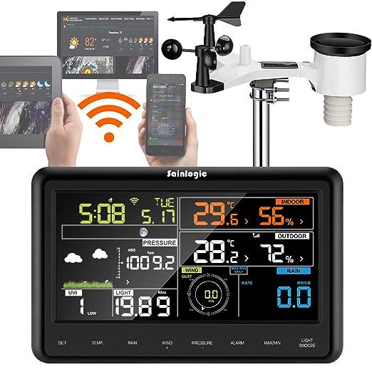 Sainlogic - WI-FI Estación meteorológica con 7 in 1 Sensor al aire ...