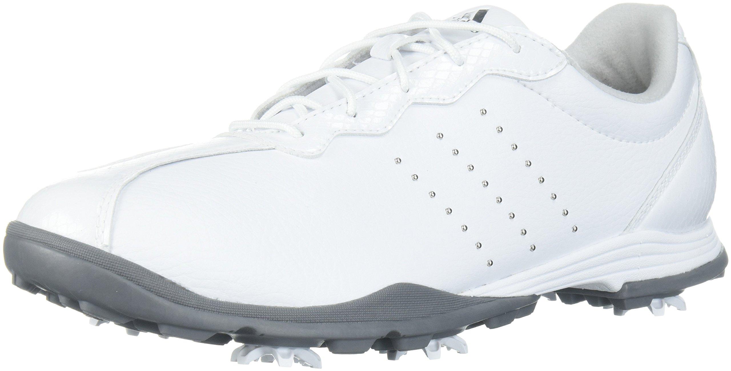 adidas Women's W Adipure DC Golf Shoe, FTWR White Silver met, 5 Medium US by adidas