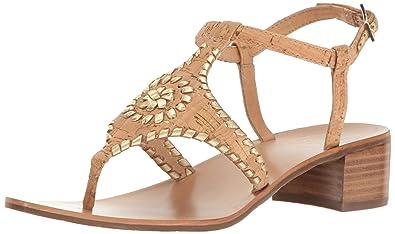 Jack Rogers Women's Elise Dress Sandal, Cork/Gold, ...