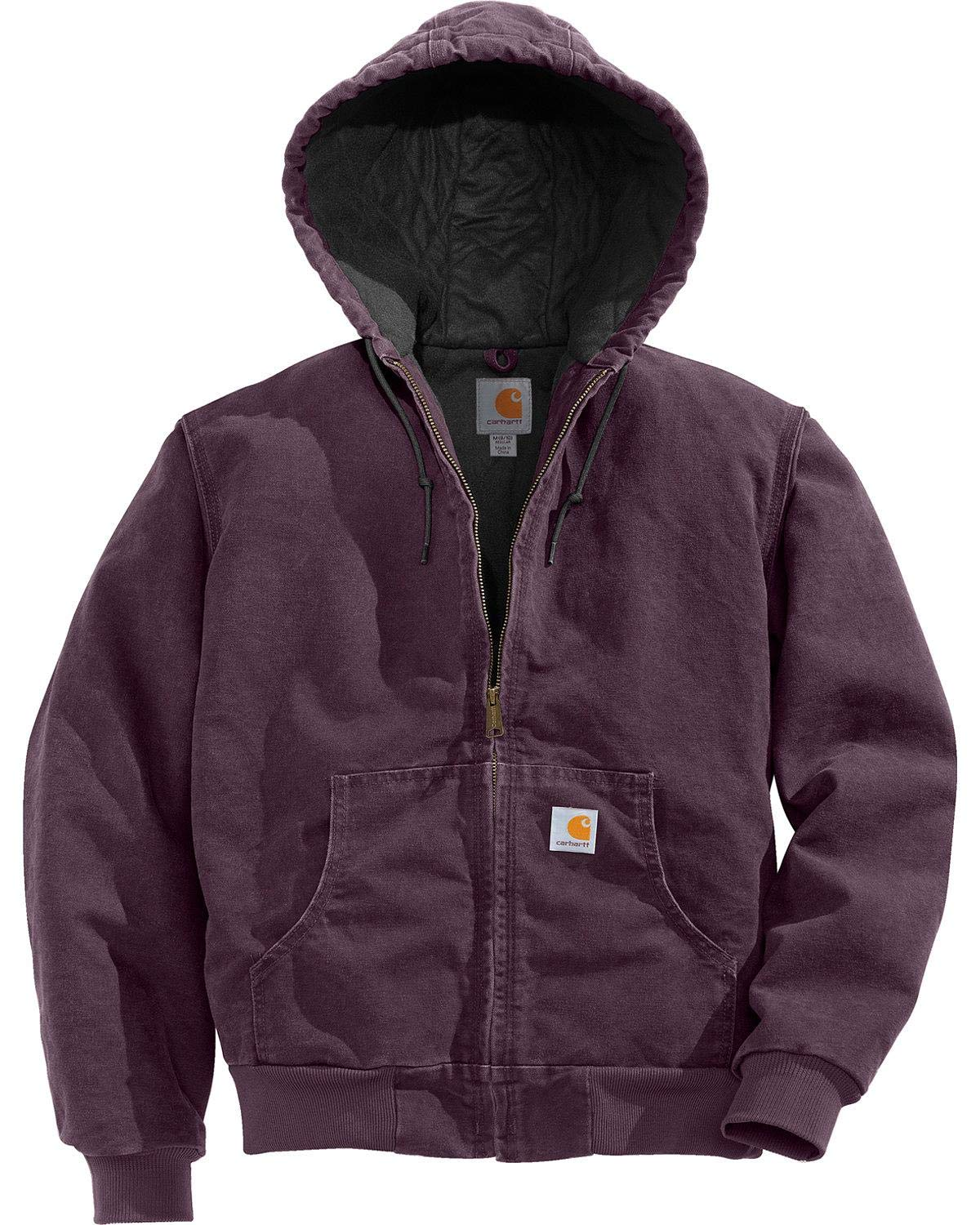 Carhartt Women's Quilted Flannel Lined Sandstone Active Jacket WJ130,Dusty Plum,Medium by Carhartt