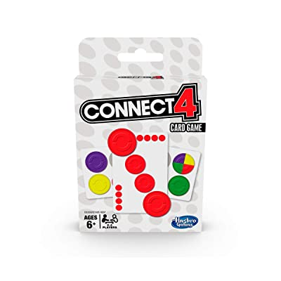 Hasbro Gaming Connect 4 Card Game for Kids Ages 6 and Up, 2-4 Players 4-in-A-Row Game: Toys & Games