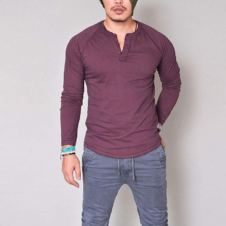 Derrick Aled(k) zhuke Camiseta Hombre Color SóLido OtoñO ...