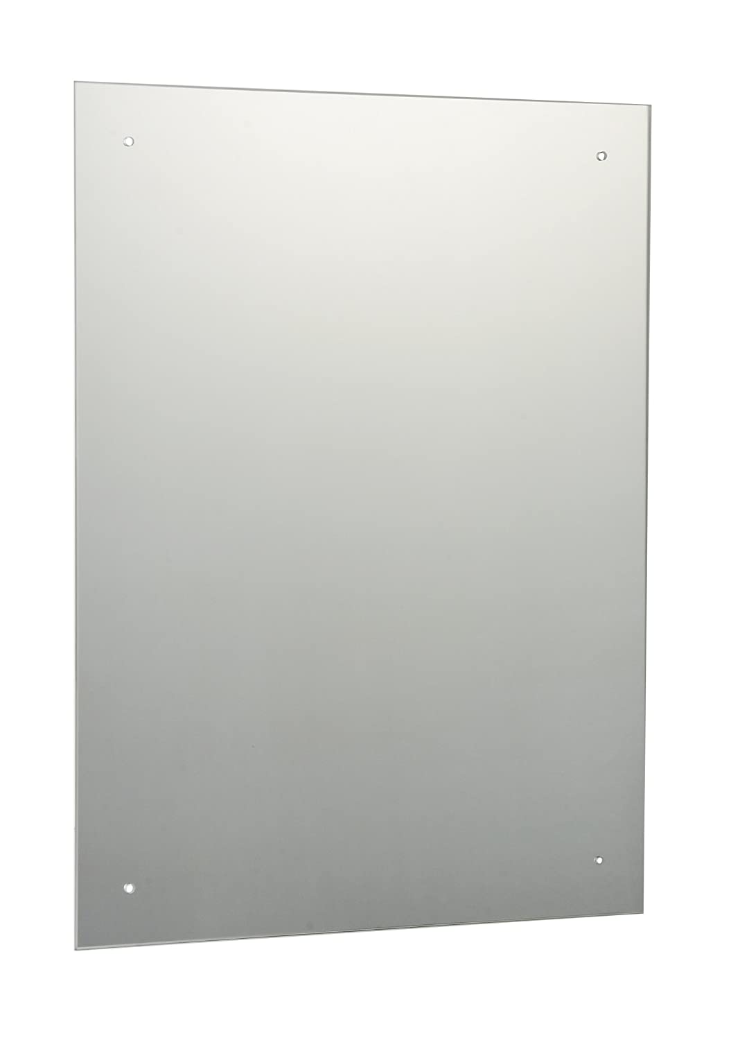 40 x 50cm Rectangle Bathroom Mirror with Drilled Holes & Chrome ...