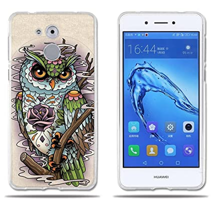 Funda Carcasa para Huawei Honor 6C/ Nova Smart/ Enjoy 6s, Gel de Silicona TPU, FUBAODA , Dibujo de Búho, Carcasa Protectora de Goma de Calidad ...