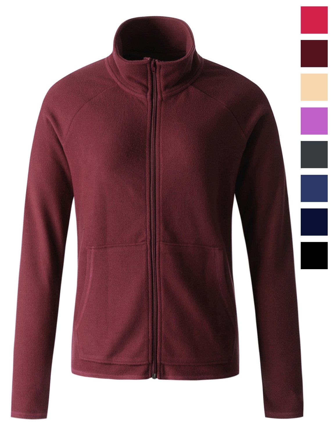 Regna X Women's Polartec Thermal Warm Full Zip up Fleece Jacket Red S Small