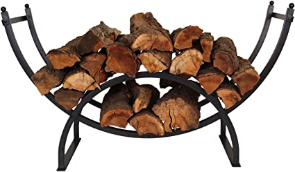PATIO WATCHER 3-Foot Curved Firewood Rack – Best Patio Log Rack