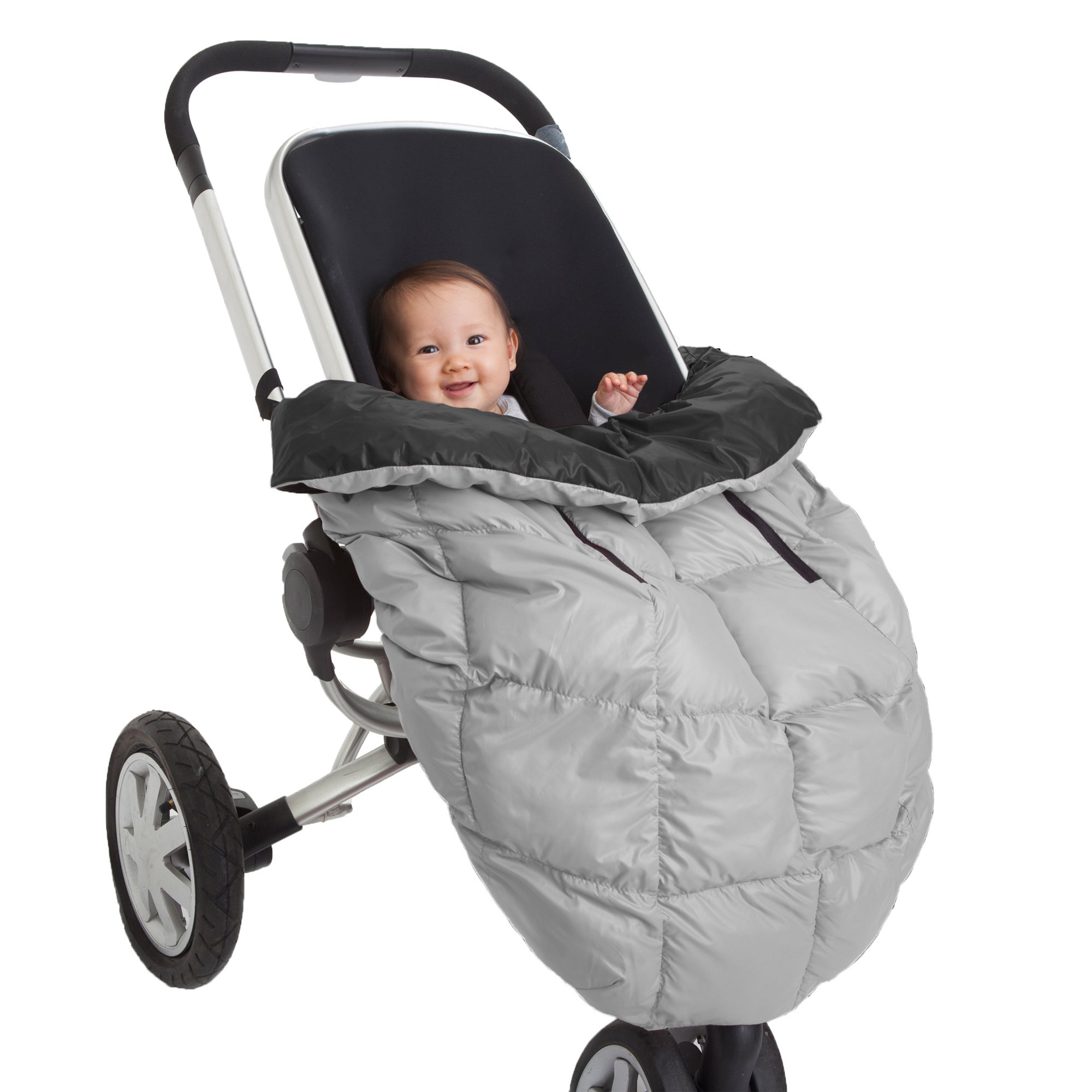 7AM Enfant, Cygnet Cover: 3-in-1 Cover for The Baby Carrier, Car-Seat and Stroller, Black/Gray by 7AM Enfant (Image #1)