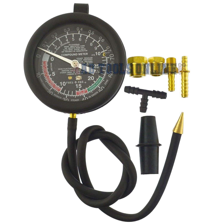AB Tools-Neilsen Vac/ío de Combustible y la presi/ón de la Bomba de Combustible carburador Kit Calibre probador una v/álvula023