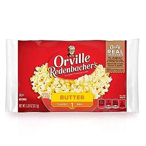 Orville Redenbacher's Butter Popcorn, 3.29 Ounce Classic Bag, Pack of 36