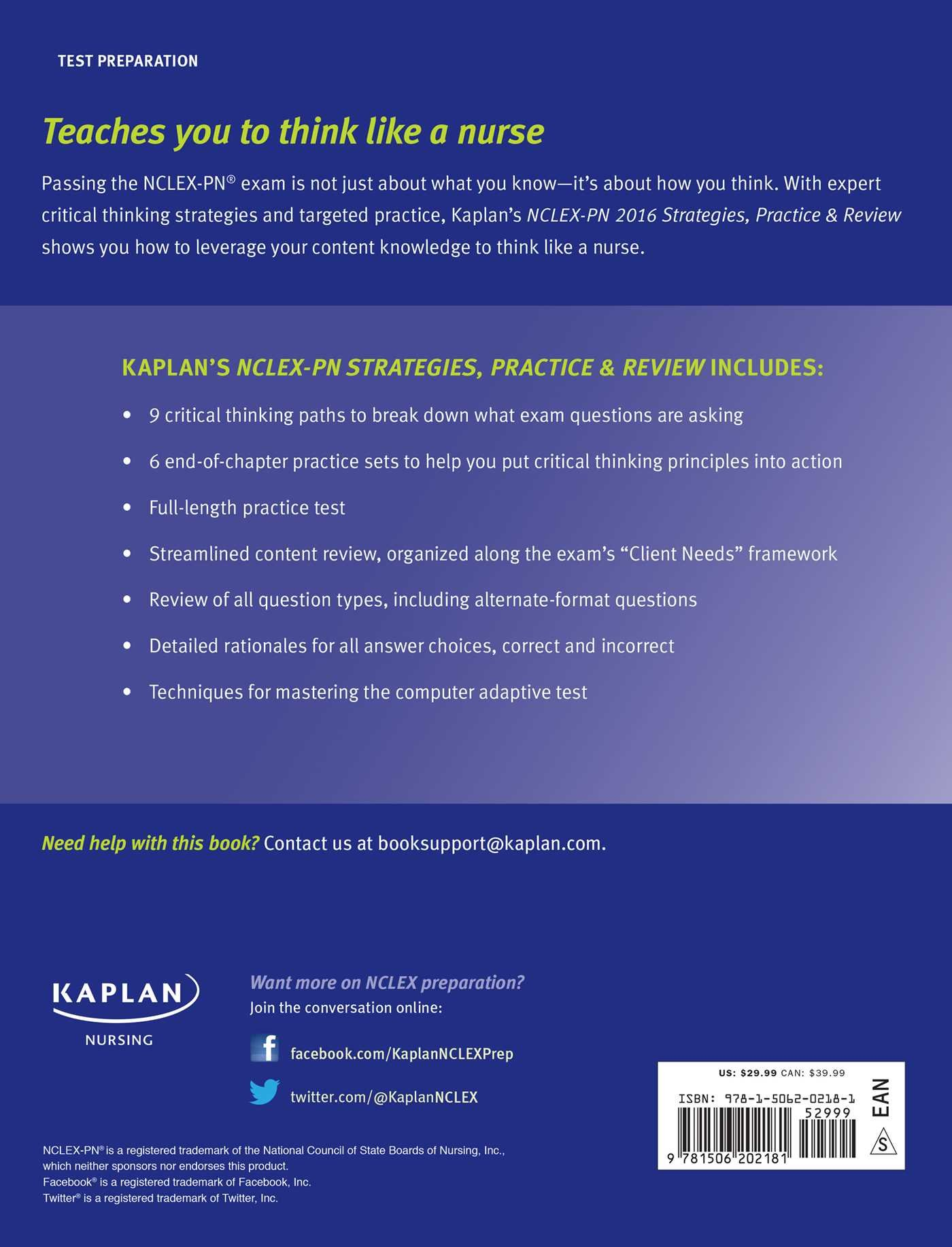 NCLEX-PN 2016 Strategies, Practice and Review with Practice Test: Kaplan  Nursing: 9781506202181: General: Amazon Canada