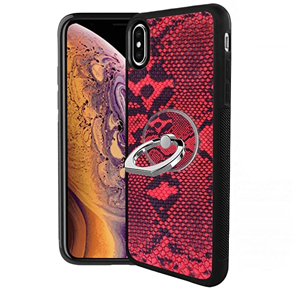 promo code 15a46 5642d Amazon.com: iPhone Xs iPhone X Case with Ring Holder Stand with ...