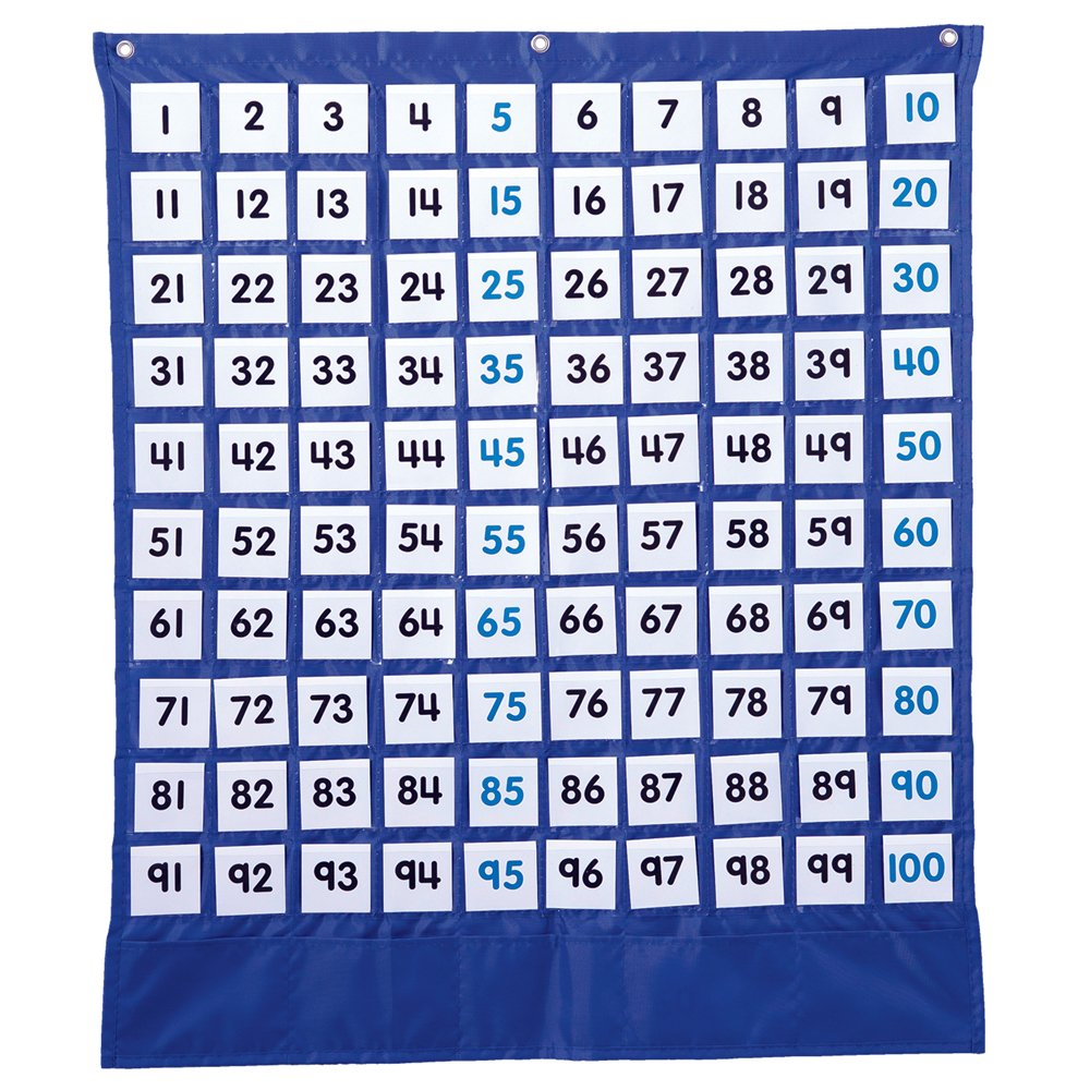 Deluxe Hundred Board Pocket Chart (Inglés) Productos de oficina – 3 ene 2012 Carson-Dellosa Publishing 1609964160 158157 Education & Teaching