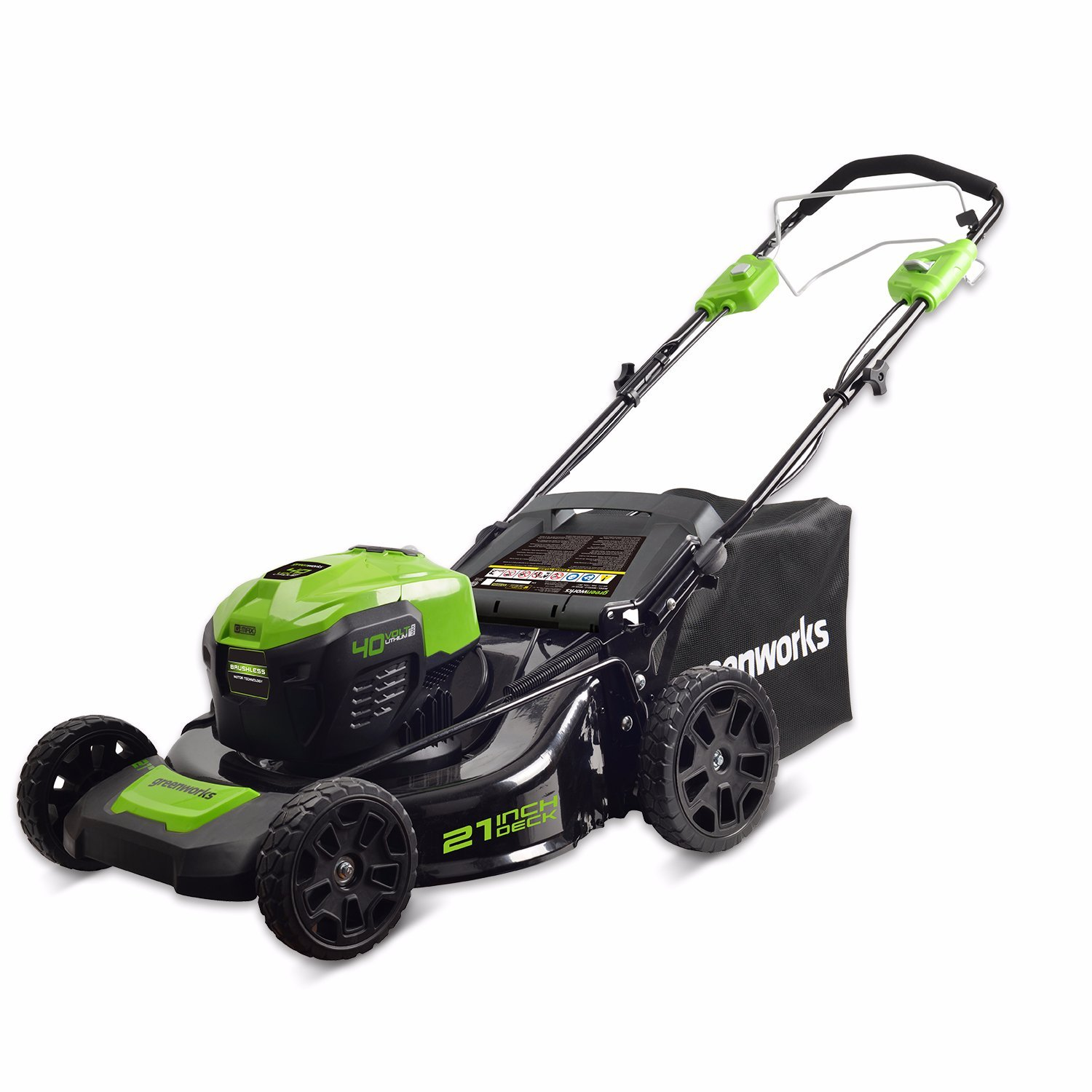 GreenWorks MO40L02 G-MAX 40V 21'' Self-Propelled Dual Port Mower, Battery and Charger Not Included