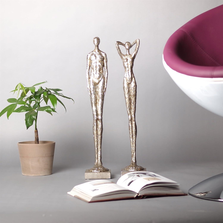 Deko Figuren amazon de design skulptur set frau mann millenium oscar deko
