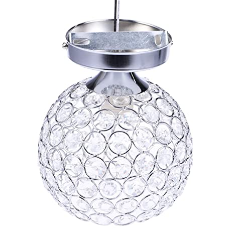 LEDMOMO Luz de techo de cristal Lámpara de techo para ...