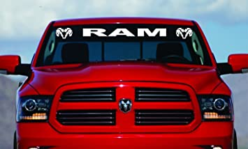 Amazoncom  Dodge Ram Hemi Windshield Logo - Truck windshield decals