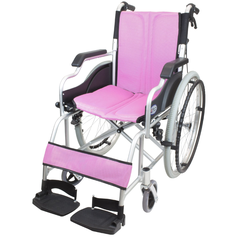 ケアテックジャパン 自走式車椅子 ハピネスコンパクト CA-10SUC (ピンク) B079T1XYSP ピンク ピンク