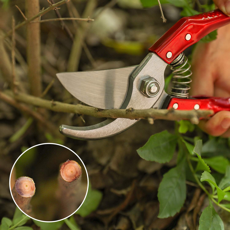L0UYC Pruning Shears SK5 Steel Blade Hand Pruner Clipper Snip for Garden Bypass Flower Bonsai