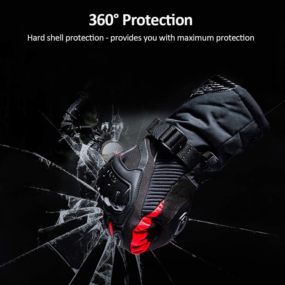 Imperm/éable Multi-Renforts et Protections R/ésistant au Froid pour Unisexe Homme Femme Manche Long Coupe-Vent Homologu/é CE XL TRILINK Gants Moto Hiver