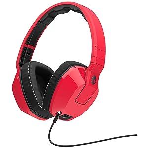 Skullcandy Crusher Red/Black | Over Ear Headphones w/ Amp & Mic