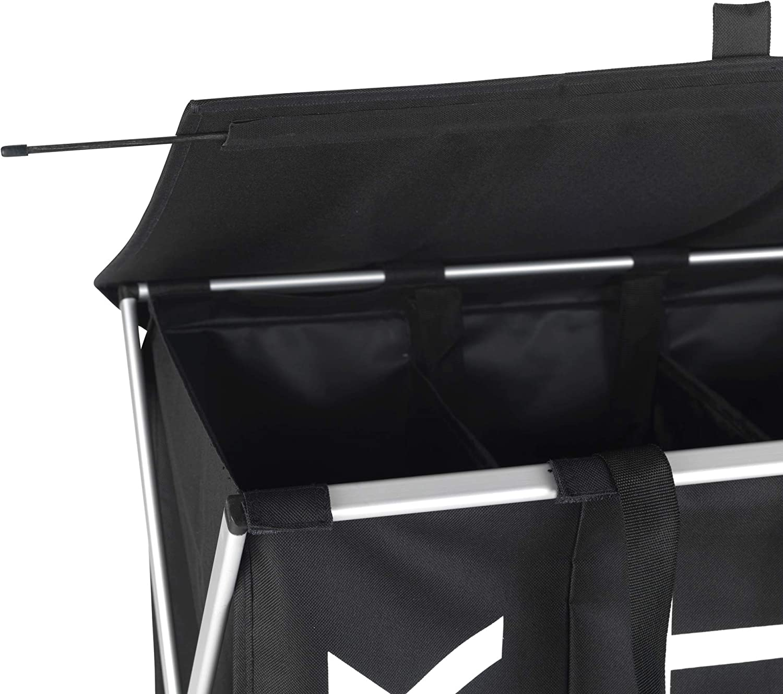 schwarz W/äschekorb 57 x 57 x 38 cm Fassungsverm/ögen: 118 l Wenko W/äschesammler Trio Top