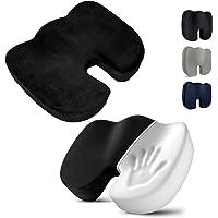 JORAGO Seat Cushion, Memory Foam Office Chair Cushions for Desk Chairs, Sciatica Car Seat Cushion for Back Coccyx…