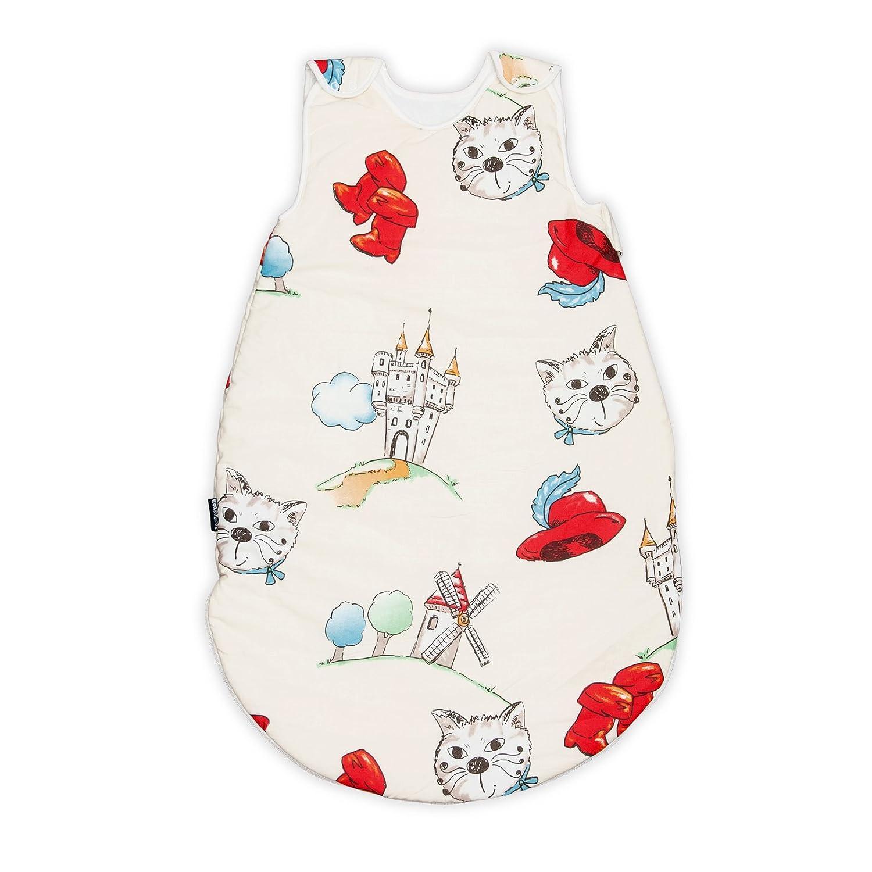 PatiChou Sacos de dormir para beb/és 0-6 meses - verano 68 cm, 0.5 tog El gato con botas Tommy