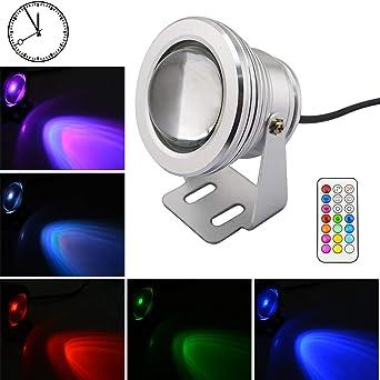 Lemonbest Underwater Light RGB Color cambia las luces de la piscina LED con la función de sincronización 10W Foco de la fuente para la piscina Fish Tank Aquarium (Enchufe de la UE)