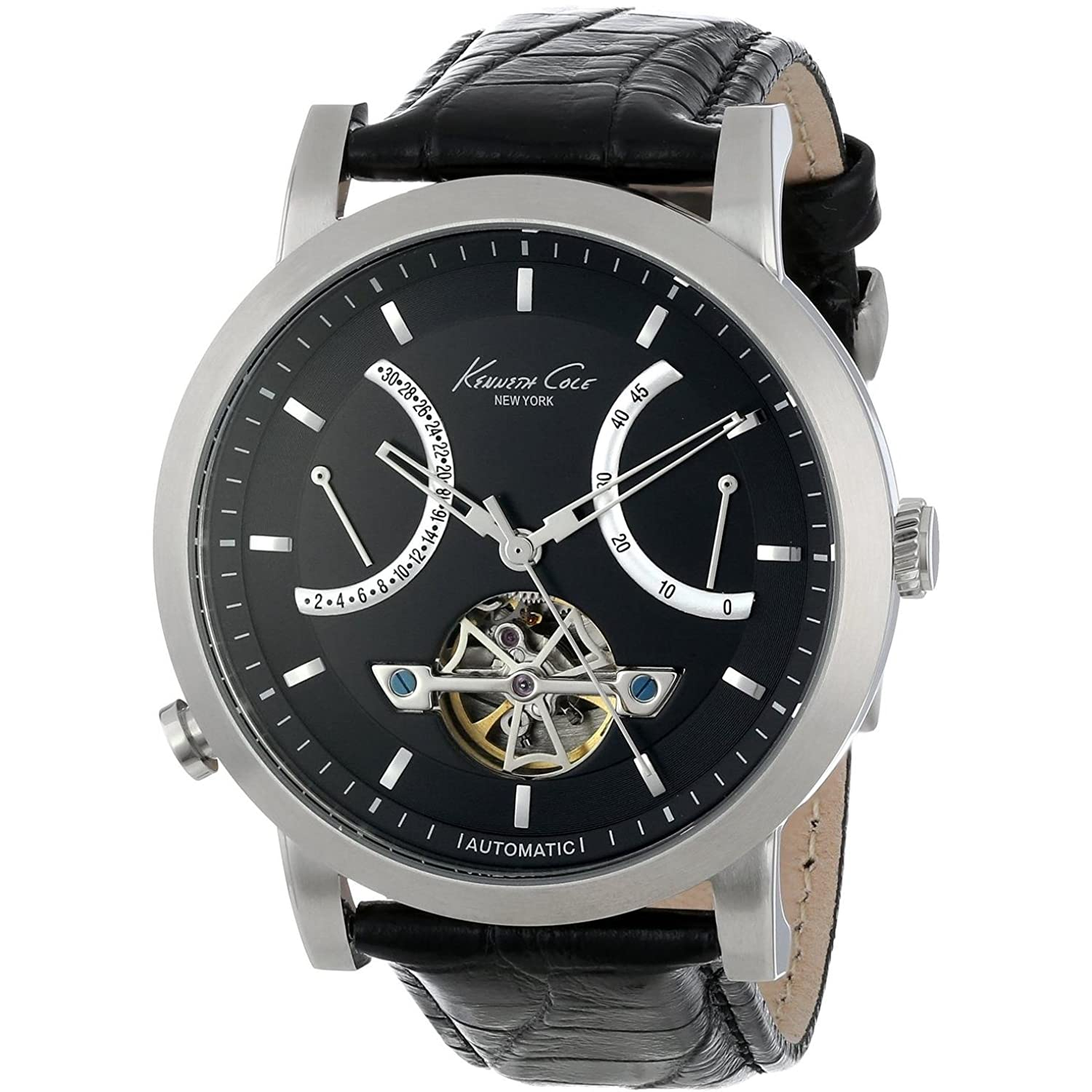 Kenneth Cole Automatic Herrenuhr schwarz-silber KC8015