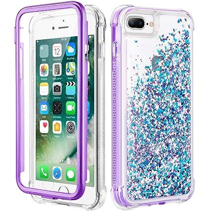Amazon.com: Caka iPhone 7 Plus Funda, iPhone 8 Plus Glitter ...
