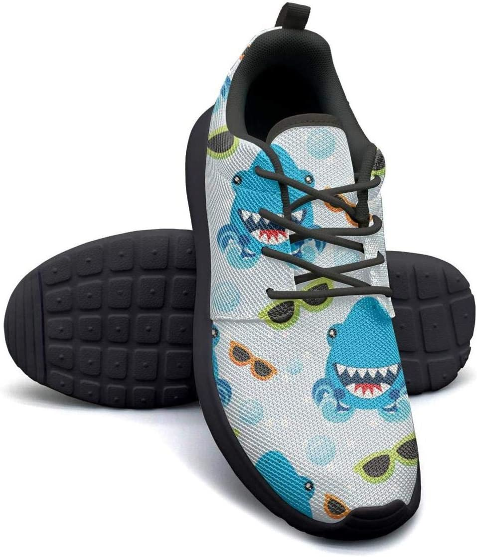 VXCVF Pink camo Shark Birthday Man Lace-up Sneaker for Mens Breathable and Lightweight Cool