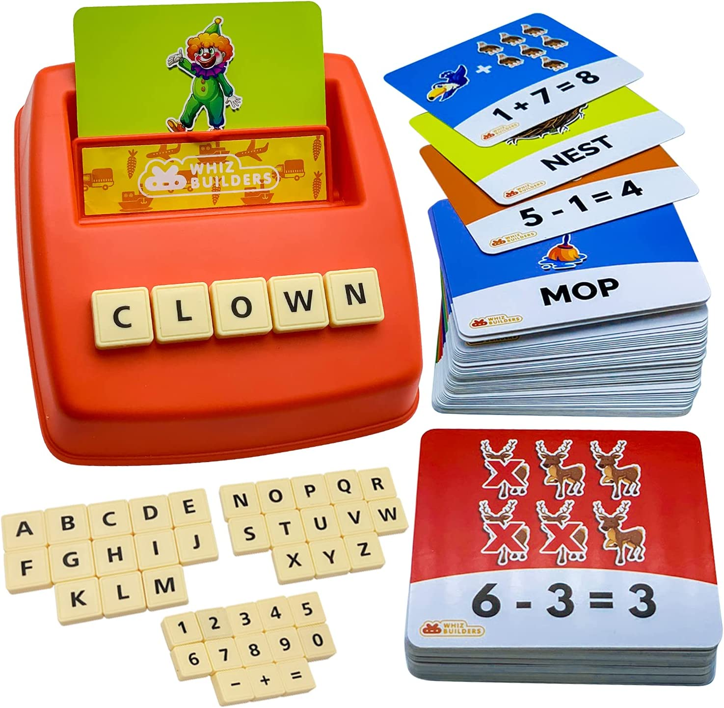 Flash Cards Letter Spelling Game for Toddlers 2-8 Years Sight ...