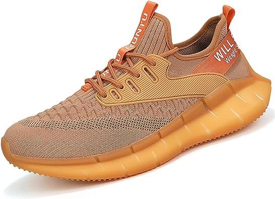 PAQOZKC Zapatillas de Deporte Hombres Running Transpirable Ligero Fitness Casuales Zapatos para Correr Gimnasio Ligero Antideslizante Sneakers: Amazon.es: Zapatos y complementos