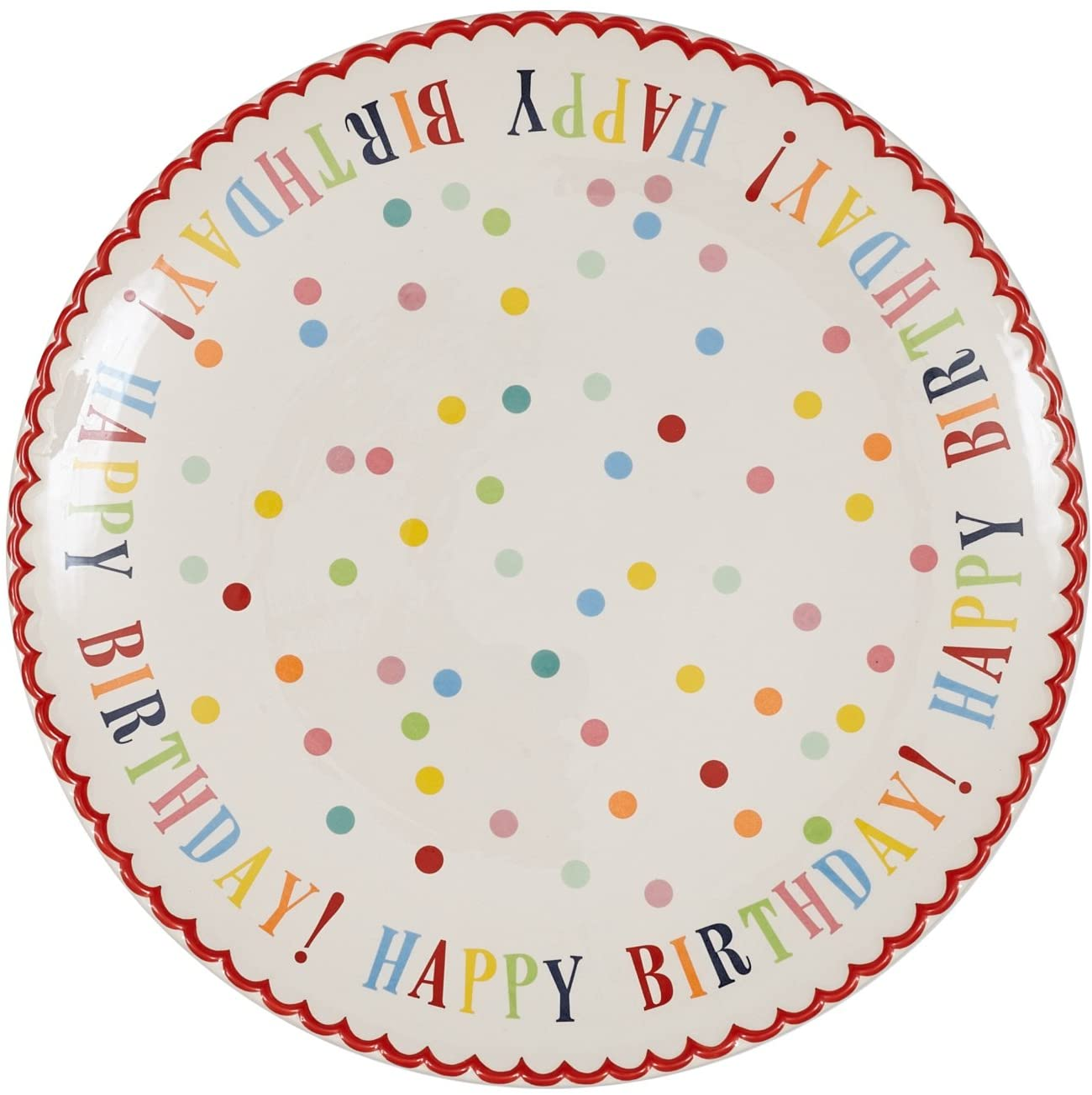 Prime Amazon Com Happy Birthday Stoneware Cake Plate Cake Stands Birthday Cards Printable Trancafe Filternl