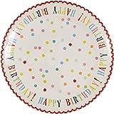 Happy Birthday Stoneware Cake Plate
