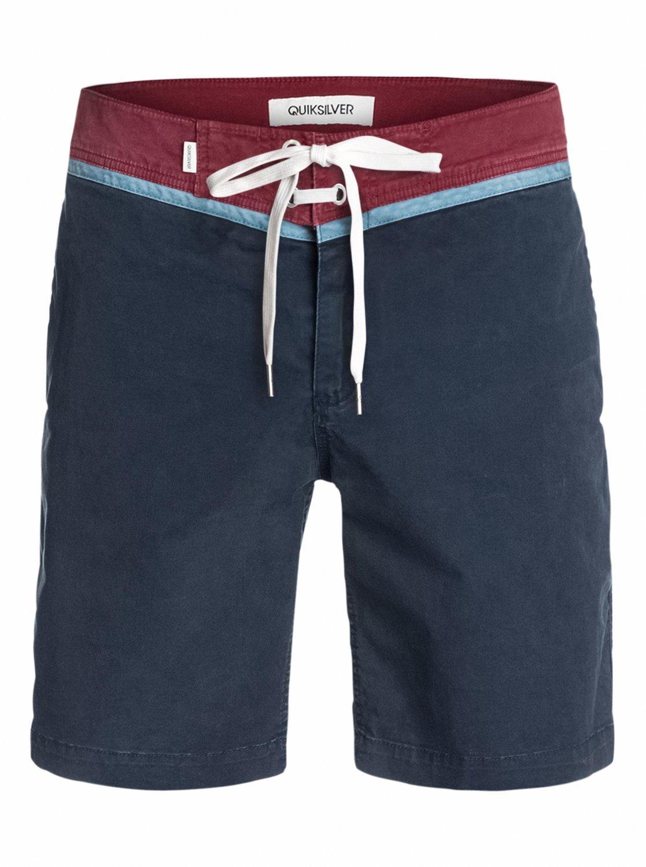Quiksilver Men's Street Trunk Yoke Walk Shorts, Navy Blazer, 36