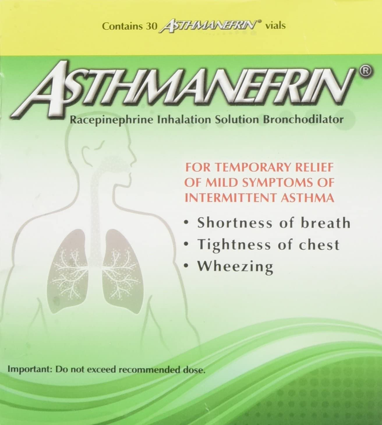Asthmanefrin Asthma Medication Refill, 30 Count: Health & Personal Care