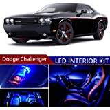 dodge challenger 2008-2014 led premium blue light interior package kit ( 12  pcs )