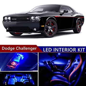 Dodge Challenger 2008 2014 LED Premium Blue Light Interior Package Kit ( 12  Pcs )