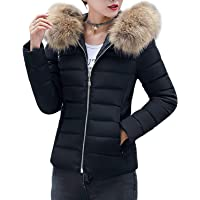 Cherfly Women's Puffer Jacket with Fur Collar in several colors
