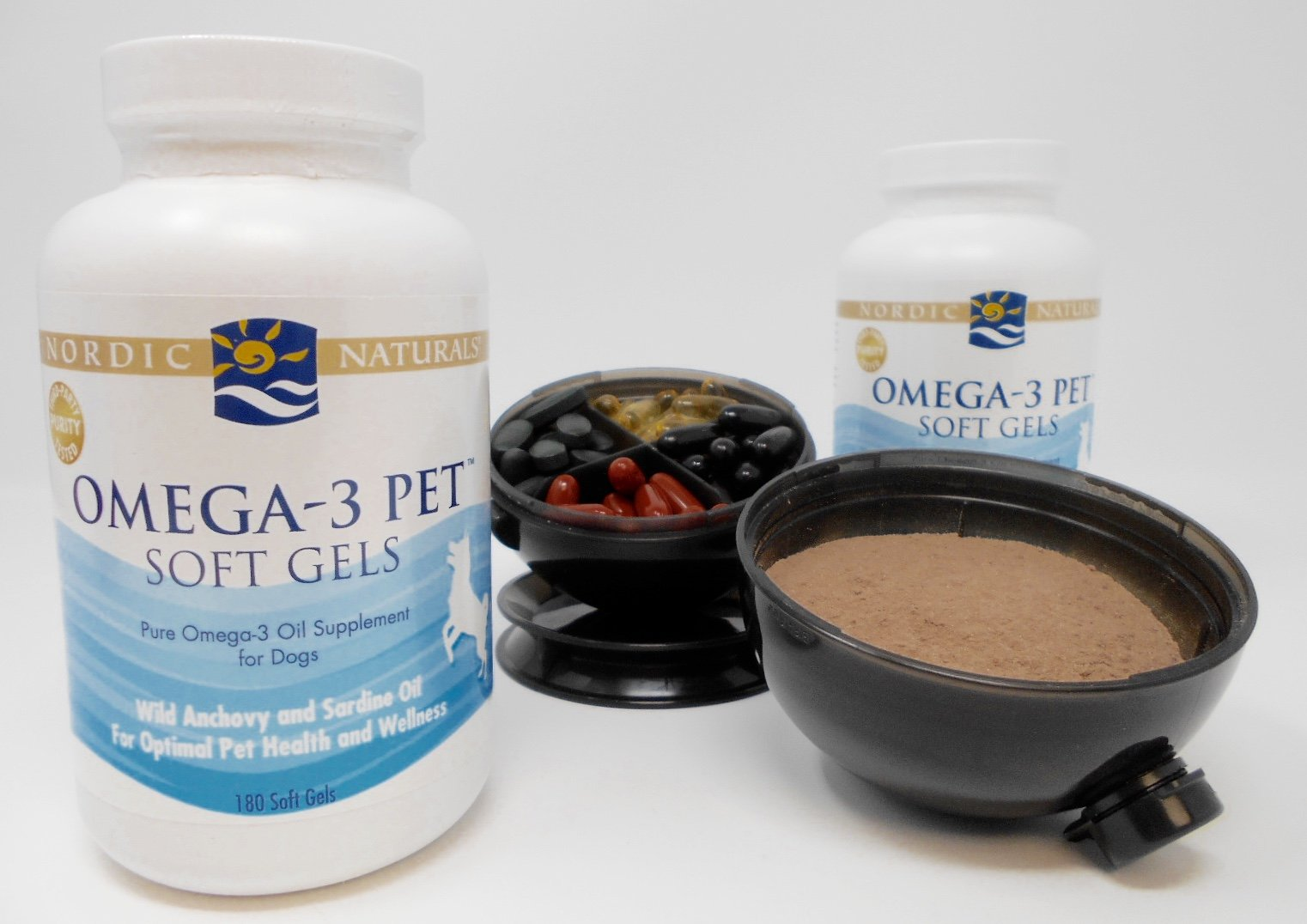 Nordic Naturals - Omega-3 PET, Promotes Optimal Pet Health and Wellness, 180 Soft Gels (2-Pack) Viita Ball Bundle