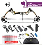 """XQMART Compound Bow Package & Arrow Accessory Kit,M1 for adults adjustable Draw Weight 15-70Lbs with Max Speed 320fps,19""""-30"""" Draw Length (Right Handed) (Multi-color Options)"""
