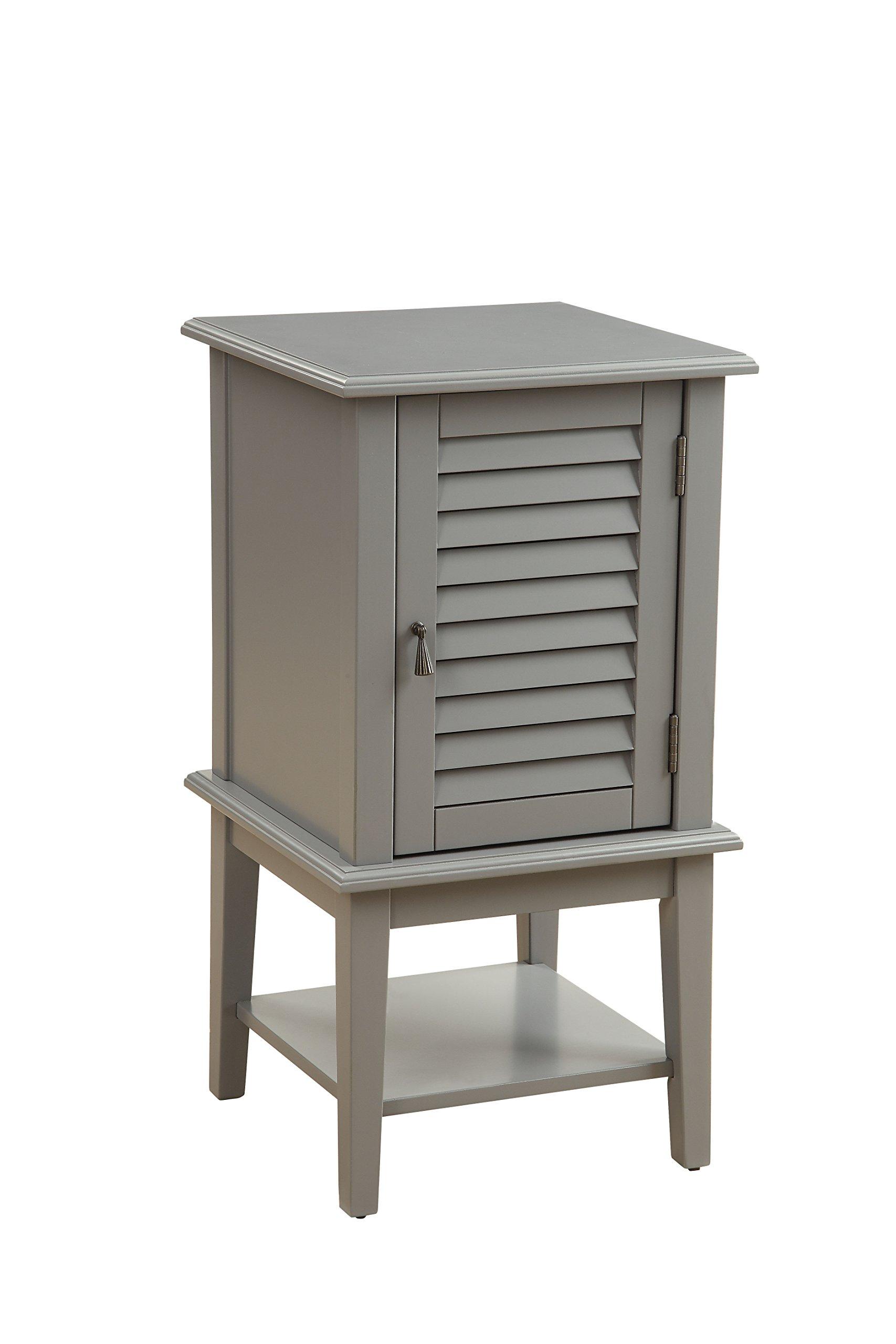 Acme Furniture Acme 97358 Hilda II Floor Cabinet, Gray, One Size