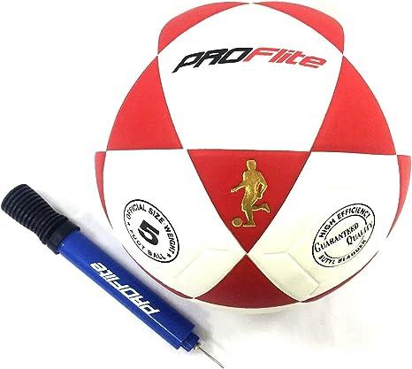 Proflite FT5-FBL Balón de fútbol tamaño 5 con Bomba Manual y Aguja ...