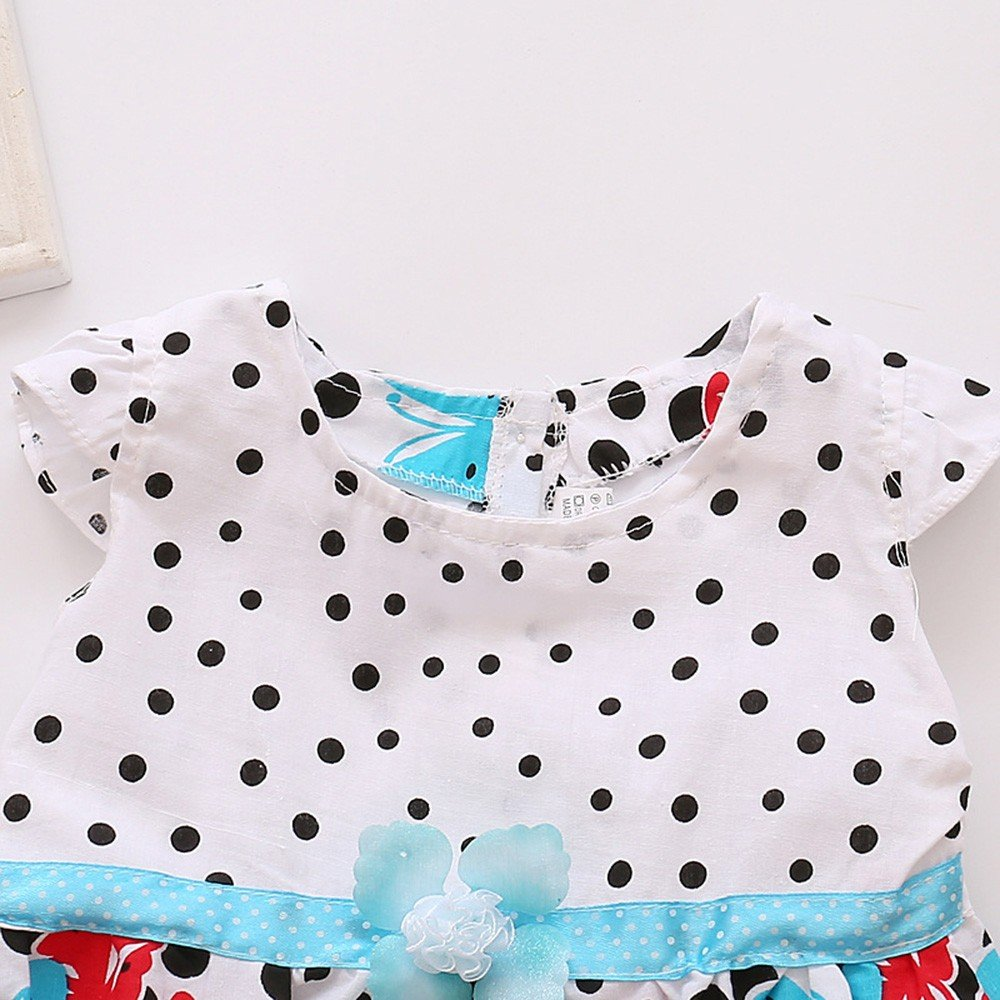 Newborn Toddler Baby Girls Dot Butterfly Print Flower Casual/ Dress Clothes